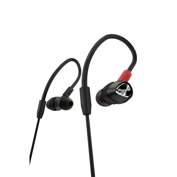 Pioneer(パイオニア) DJE-2000-K(ブラック)【送料無料】DJモニターイヤホン(イヤフォン) 低域から中高域まで高音質再生を実現/DJモニターイヤホン