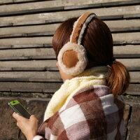 ワイヤレス!イヤマフヘッドホンMEBT-12CA(キャメル)【送料無料】ミュージックイヤーマフ/Bluetooth/ブルートゥース/ヘッドフォン/耳あて/イヤーウォーマー/レディース