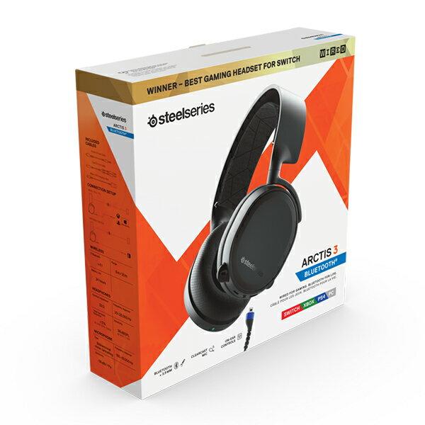 ゲーミングヘッドセット SteelSeries スティールシリーズ Arctis 3 Bluetooth (2019 Edition)  PC PS4 Xbox One Switch iPhone スマートフォン対応 無線ゲーミングヘッドセット 【1年保証】 ギフト オンライン ボイスチャット Apex フォートナイト 荒野行動