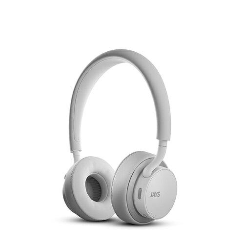 JAYS u-JAYS Wireless White/Silver Bluetoothワイヤレスヘッドホン(ヘッド...