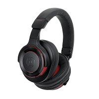 Bluetoothワイヤレスヘッドホンaudio-technicaオーディオテクニカATH-WS990BT-BRDブラックレッドノイズキャンセリング機能搭載ヘッドフォン