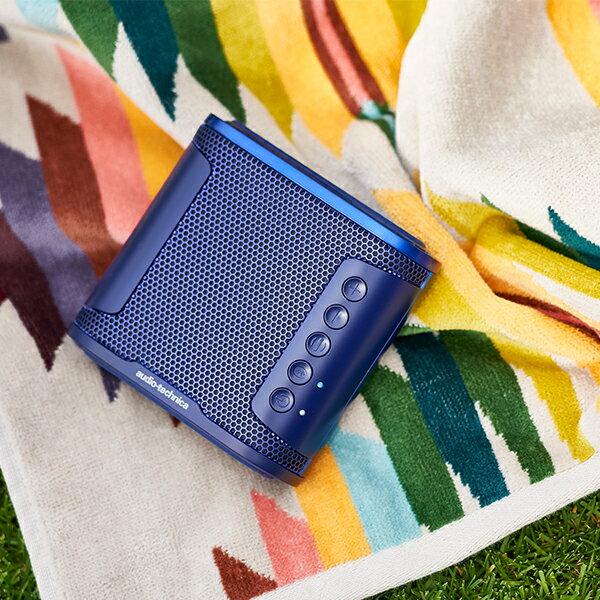 audio-technica オーディオテクニカ AT-SBS50BT BL  ポータブル ワイヤレス 防水 スピーカー