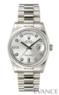 Rolex day-Date Watch 118239A silver 10 P diamond