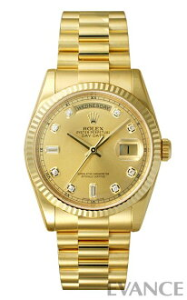 Rolex day-Date Watch 118238A champagne 10 P diamond