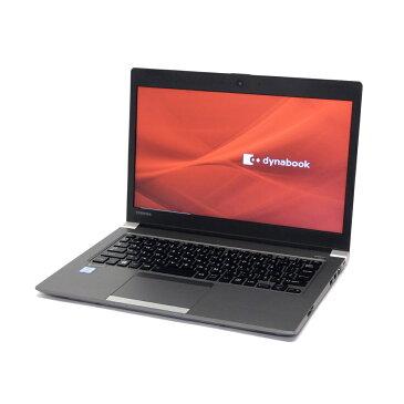 中古 パソコン 東芝 dynabook R63/P 訳あり 外観難あり B5 ノートパソコン 13.3インチ 軽量 モバイル 11ac 無線LAN WPS Office付き Windows10 Home 【Core i5-5300U/4GB/128GB SSD】