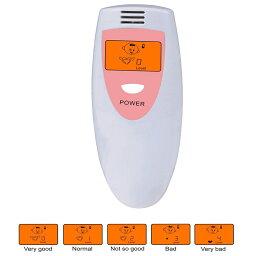 口臭チェッカー 口臭レベル測定 デジタルブレス 5段階イラスト表示 コンパクト携帯 ミニ持ち歩き ポケットチェック 匂い ニンニク 料理 アルコール デート日本語説明書付き