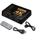 HDMI 切替器 分配器 5入力1出力 4K セレクター 1080p 3DフルHD対応 自動手 動切り替え リモコン switch Blu-Ray DVD DVR Xbox PS3 PS4 Appleなど対応