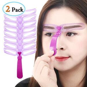 眉毛テンプレート8種類二組セット眉毛ステンシル男女兼用8パターンアイブロウ眉書き眉毛型太眉対応美容ツール初心者補助