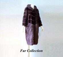 ファーケープジャケット・レディースファーコート・毛皮ショール・ファーストール・フォックスケープ・トスカーナムートンジャケット・毛皮お好きな方に
