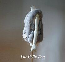 異素材コンビレディース毛皮コートピンクベージュクリーム・毛皮ジャケット・ファーコート・セーブル・フォックスストール・チンチラお好きな方に
