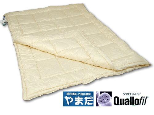 日本製・洗えるダクロンクォロフィルアクア綿増量デュエット掛ふとん(シングルロング)ランキング入...