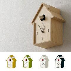 ●送料無料鳴き声で時間をお知らせハト時計壁掛け時計/かけ時計/クロック/北欧/ミッドセンチュ...