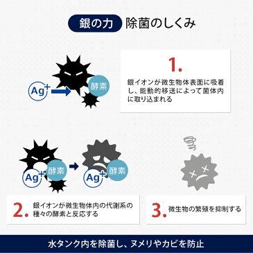 加湿器 除菌 銀の力 入れるだけ 除菌剤 Ag+ 日本製 ヌメリ防止 ピンクカビ防止 雑菌防止 水タンク除菌 除湿器 冷風扇 2個入り 1.5L用 3L用 銀イオン ドウシシャ RPSB-6G-S