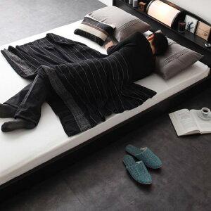 フロアベッドロッソセミダブルボンネルコイルマットレス付(rosso/セミダブルベッド/木製ベッド/照明付ベッド/モダンベッド)【送料無料】
