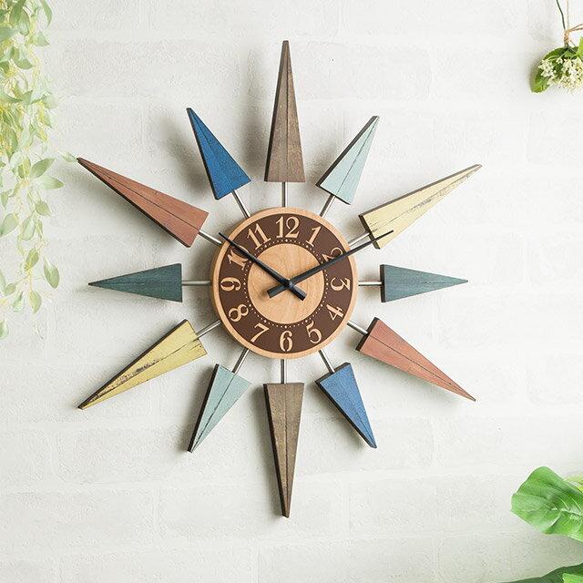 掛け時計 壁掛け時計 おしゃれ 北欧 木製 人気 ヴィンテージ レストヴント CL-8408