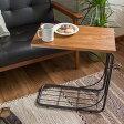 ヴィンテージ サイドテーブル 木製 Arure (ナイトテーブル ソファサイドテーブル サイドチェスト ベッド ソファテーブル レトロ ビンテージ ミッドセンチュリー アンティーク 西海岸 モダン ブラウン スチール おしゃれ 売れ筋 人気)