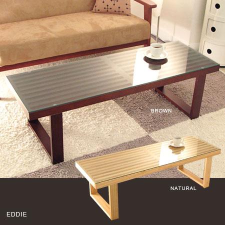 エディガラステーブル(ガラステーブル テーブルベンチ センターテーブル ローテーブル 木製テーブ...