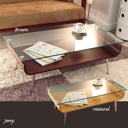 ジェリーガラステーブル(ガラストップ リビングテーブル センターテーブル ローテーブル)