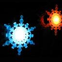 LED スノーフレーク クリスマスツリーにもピッタリ クリスマスイルミネーション 雪の結晶 LEDイルミネーションの商品画像