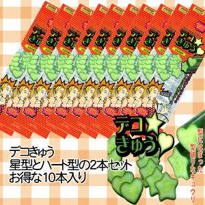 【送料無料】【育苗資材】【家庭菜園】デコきゅう 星・ハートの型セット お得な10本セット[ポイント5倍]