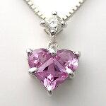 K18WG(18金ホワイトゴールド)ピンクサファイヤダイヤモンドネックレス