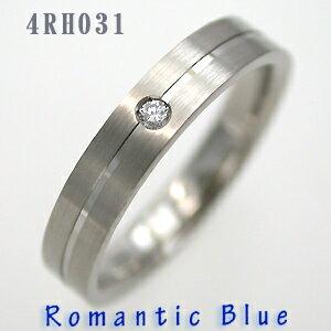 18金ホワイトゴールド結婚指輪RomanticBlue4RH031サファイヤ&ダイヤ入り