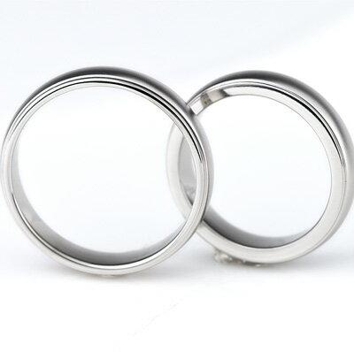 チタン 結婚指輪 (マリッジリング) プラチナイオンプレーティング加工商品 男女ペアセット 刻印無料(文字彫り) 金属アレルギーにも強い アレルギーフリー ペアリング ブライダルリング マリッジリング チタンマリッジリング 刻印可能なチタン結婚指輪 安心