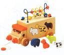 【ディズニーDVDプレゼント】【すぐ使えるクーポン配布中】アニマルビーズバス 木のおもちゃ 積木 パズル 木製 知育 玩具 ルーピング プルトイ 誕生日プレゼント エドインター 楽天