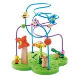 【クーポン配布中】おさんぽくまさん エドインター (Ed.Inter) 木のおもちゃ ビーズ ルーピング コースター 木製 おもちゃ 知育玩具 知育 玩具 楽天