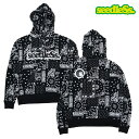 seedleSs. パーカー paisley all over big size hoody プルオーバー シードレス Black 黒