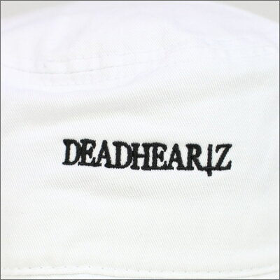 "DEADHEARTZBUCKETHAT""D""BACKETHATWHITE(デッドハーツ)(ハット)"