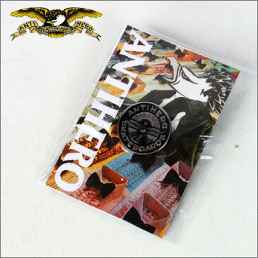 ANTI HERO ピンズ Lapel Pin STAY READY SLIVER/BLACK (ピンバッチ)