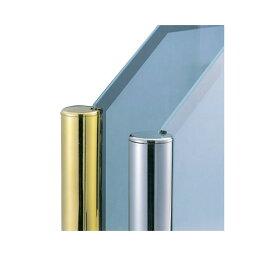 ガラススクリーンポール(チャンネルポール) Sタイプ 角二方 32mm x L400mm ボール頭45 インロー固定 ゴールド