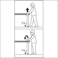 テーブル脚昇降式ポール脚DSS-600B高さ調整幅400~500mm(2cm間隔x5段階昇降)ステンレスヘアライン