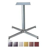 テーブル脚SBL2800ベース570x570パイプ60.5φ受座300x300アルミシルバー/塗装パイプAJ付高さ700mmまで