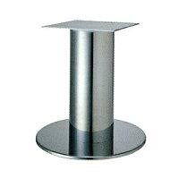 テーブル脚ソフトS7520ベース520φパイプ139φ受座240x240クロームメッキAJ付高さ700mmまで