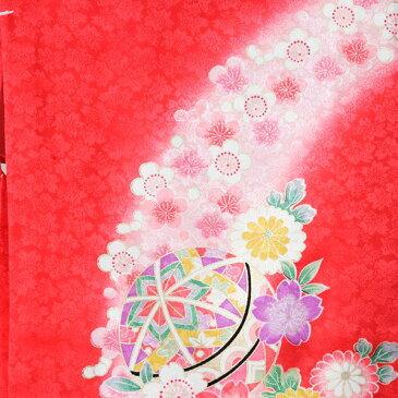 【レンタル】正絹 花車と鞠 産着レンタル | 着物 正絹 お宮参り 産着 赤ちゃん 女の子用 セット 着物セット レンタル衣装 衣装 貸衣装 ベビー着物 ベビー 初節句 初着 ベビー服 レンタル着物 着物レンタル 祝い着 祝着 よだれかけ 帽子 子供 こども 女の子 [e-5n104]