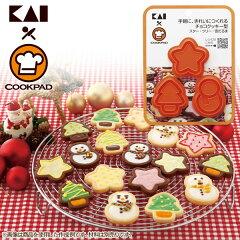 【クッキー型 クリスマス 星 スター クリスマスツリー モミの木 雪だるま スノーマン アイシン...