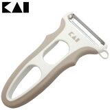 貝印 ツインカラーグリップピーラー ピーラー 貝印 日本製 スライサー 皮むき器 ステンレス じゃがいも 皮むき 野菜 調理小物 調理道具 KaiHouse SELECT DH7167【D】