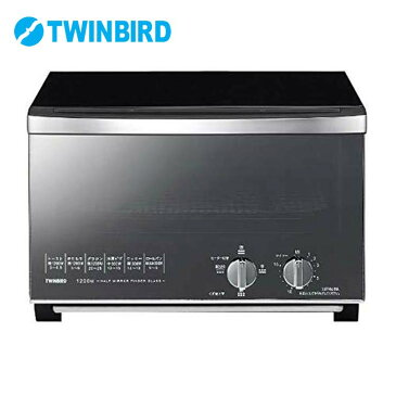 ミラーガラスオーブントースター TS-D048B送料無料 キッチン家電 調理家電 ダイヤル式 ブラック 黒 おしゃれ 食パン4枚 トースト4枚 トースター 1200W TWINBIRD ツインバード 【D】
