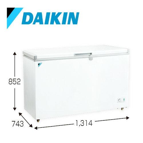 メーカー直送ダイキン冷凍庫冷凍ストッカー LBFG4AS 400Lクラス大容量温度調整ダイヤルキャスター付安心鍵付き