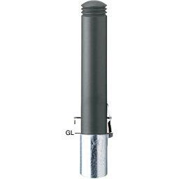 メーカー直送 サンポール ボラード φ152.5(t3.0)×H750mm カラー:ダークグレー [V-352SK]