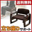 【あす楽】 山善(YAMAZEN) 立ち上がりラクラク 座椅子 ローバック WYZ-55(DBR) ダークブラウン 座いす 座イス 1人掛けソファ いす イス 椅子 チェア 母の日 父の日 【送料無料】