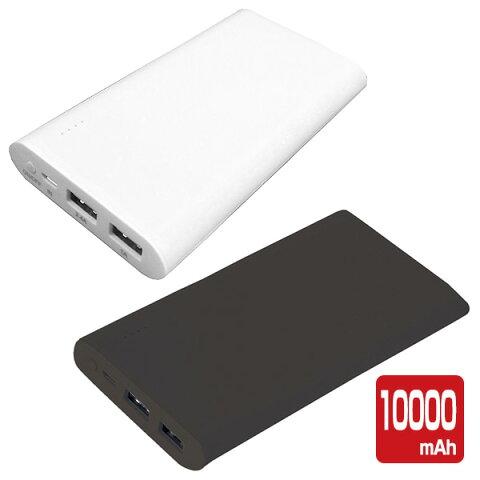 モバイルバッテリー 10000mAh 2.4A LMU1001 バッテリー 充電器 携帯充電器 携帯バッテリー スマホ 充電 2ポートiphone Android USB出力付 スリム 薄型 ウィルコム(willcom) 【送料無料】