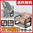 【あす楽】 山善(YAMAZEN) 優しい座椅子 (ローバック) SKC-56L(B3) 花柄/ダークブラウン 座椅子 座いす 座イス いす イス 椅子 チェア座椅子 肘掛け 母の日 父の日 敬老の日 高齢者 【送料無料】
