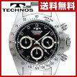 TECHNOS(テクノス) SEIKOムーブ搭載 メンズ 腕時計 クロノグラフジルコニア・リミテッド T4102SH ブラック 男性用 ウォッチ WATCH 防水 セイコー 父の日【送料無料】