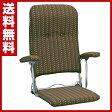 ミヤタケ(宮武製作所) 折りたたみ座椅子(肘付ハイバック) YS-1046(BR) ブラウン 座椅子 座いす フロアチェア チェア チェアー 椅子 1人掛け 【送料無料】