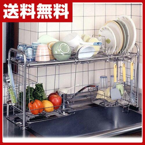 杉山金属 キチンとキッチン シンク収納ラック(下段オプション付) KS-2713...