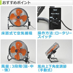 山善(YAMAZEN)45cm床置式工業扇風機YKY-456