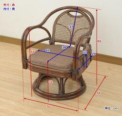 【送料無料】山善(YAMAZEN)回転籐椅子/完成品TF27-778(BR)ブラウン回転椅子回転チェア椅子イスいすチェアチェアー座椅子肘掛け敬老の日10P01Jun14